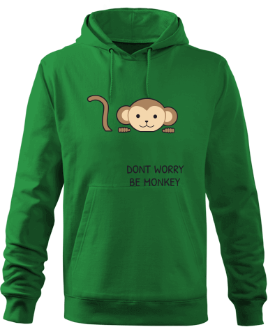 76dba37e0e0dd Be Monkey | Pánská mikina s kapucí Fruit of the Loom s možností ...